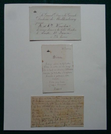 Grand Duke Mecklenburg-Schwerin Dinner Menu & Guest List 1895 Villa Wenden